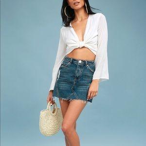 Lulu's Jean Skirt